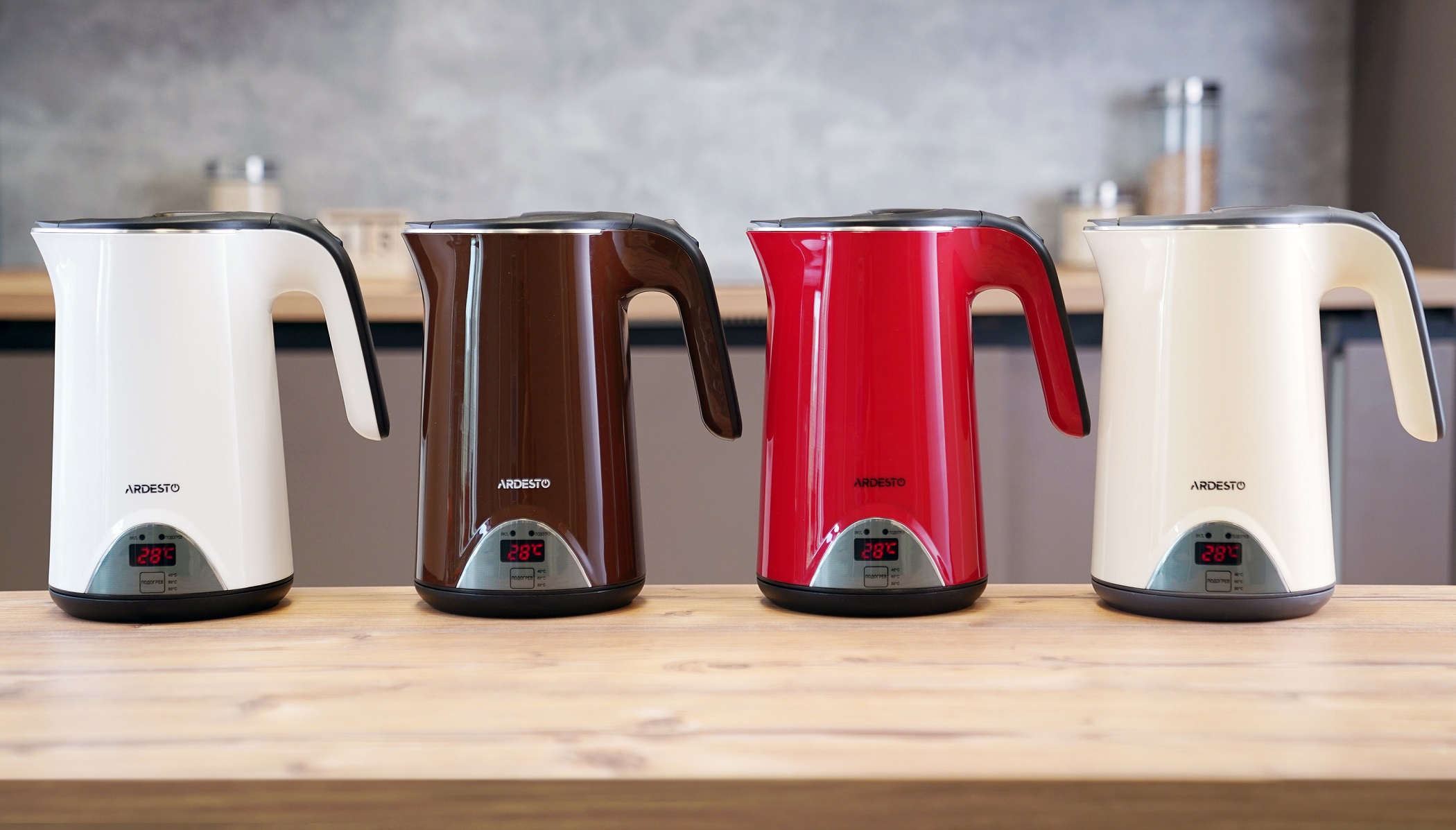 Ardesto EKL-1617 electric kettles have double walls and the temperature support function