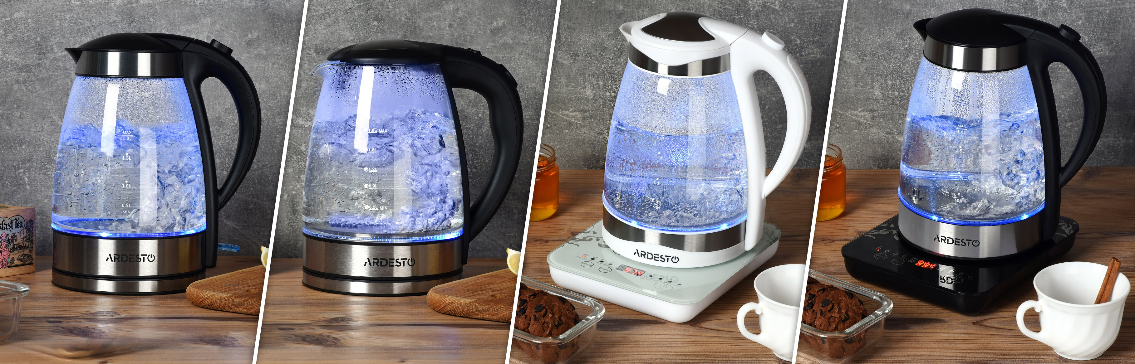 Ardesto glass electric kettles with LED-lightning