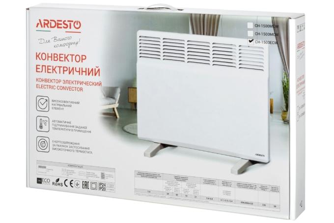Конвектор электрический с программатором Ardesto СН-1500ECW