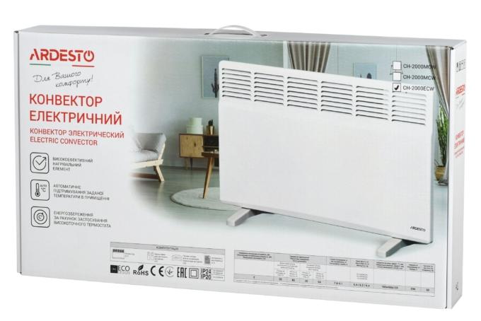 Конвектор электрический с программатором Ardesto CH-2000ECW