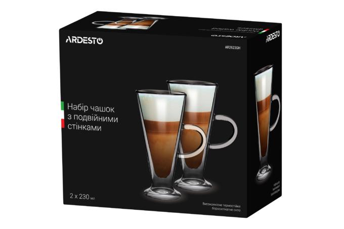 Cups set Ardesto with double walls AR2623GH