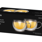 Cups set Ardesto with double walls AR2627GH