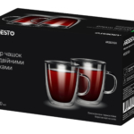 Cups set Ardesto with double walls AR2631GH