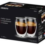 Набір чашок Ardesto з подвійними стінками AR2640G