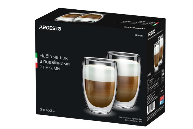 Набор чашек Ardesto с двойными стенками AR2645G