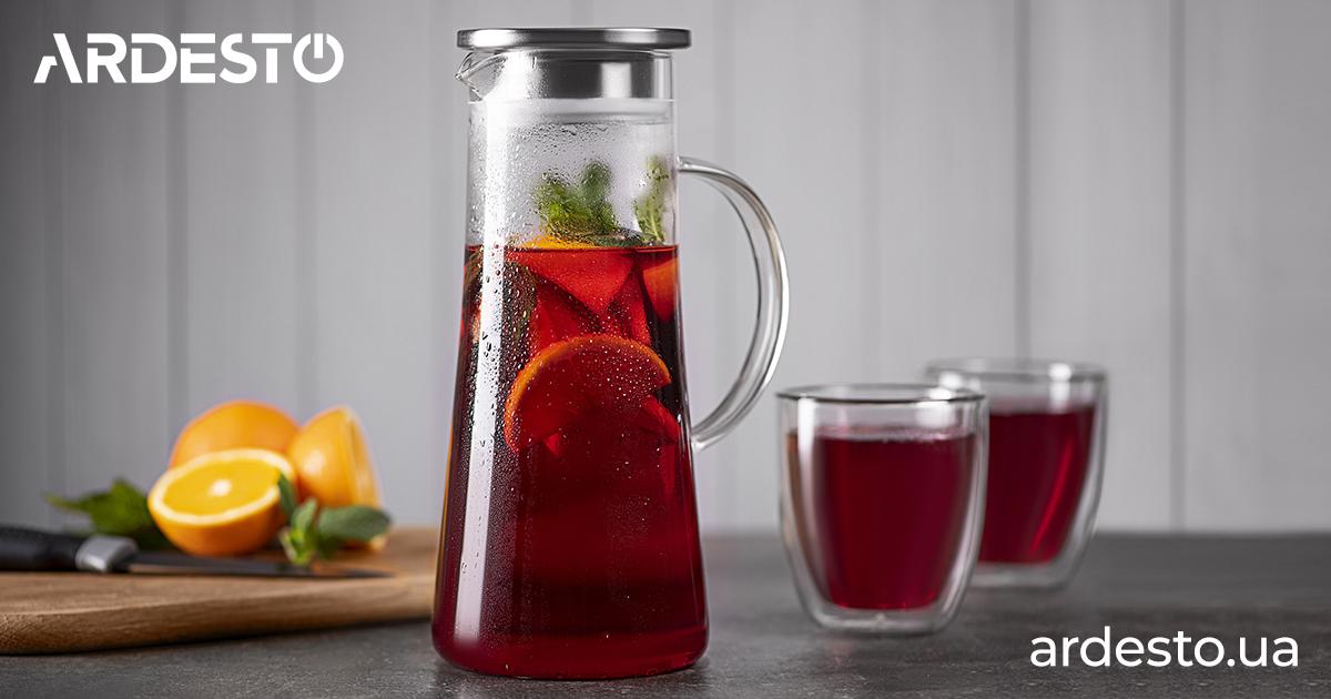 Скляні глечики Ardesto для ваших улюблених напоїв