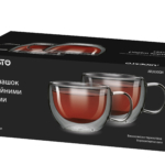 Набір чашок Ardesto з подвійними стінками AR2630GH