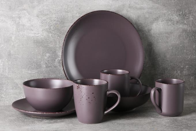 Soup plate Ardesto Lucca, 20 cm, Grey brown