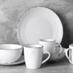 Soup plate Ardesto Lucca, 20 cm, Winter white