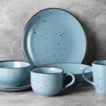 Dinner plate Ardesto Bagheria, 26 cm, Misty blue