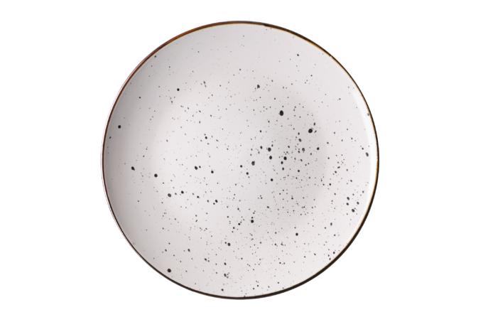 Тарелка обеденная Ardesto Bagheria, 26 см, Bright white