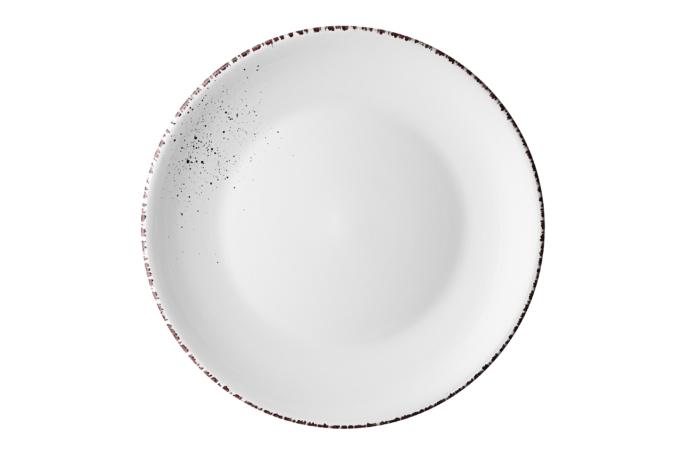 Тарелка обеденная Ardesto Lucca, 26 см, Winter white