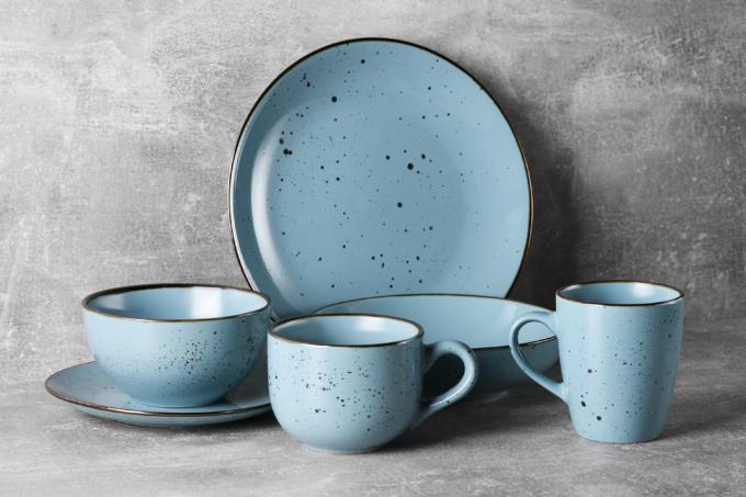 Cup Ardesto Bagheria, 360 ml, Misty blue AR2936BGC