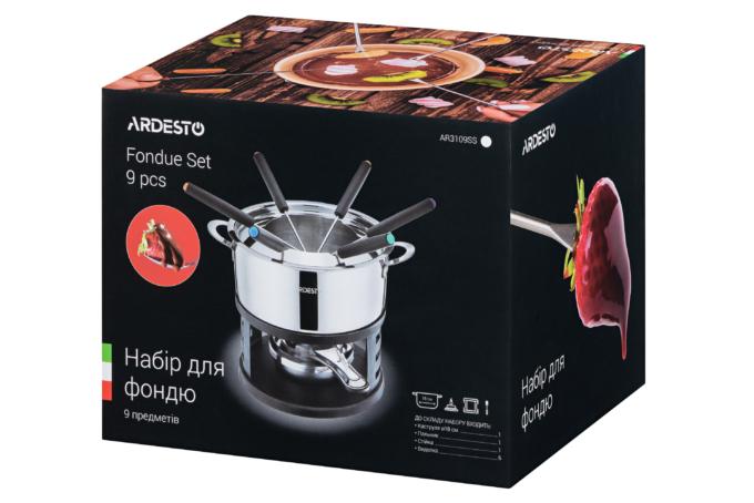 Fondue set Ardesto, 9 pieces AR3109SS