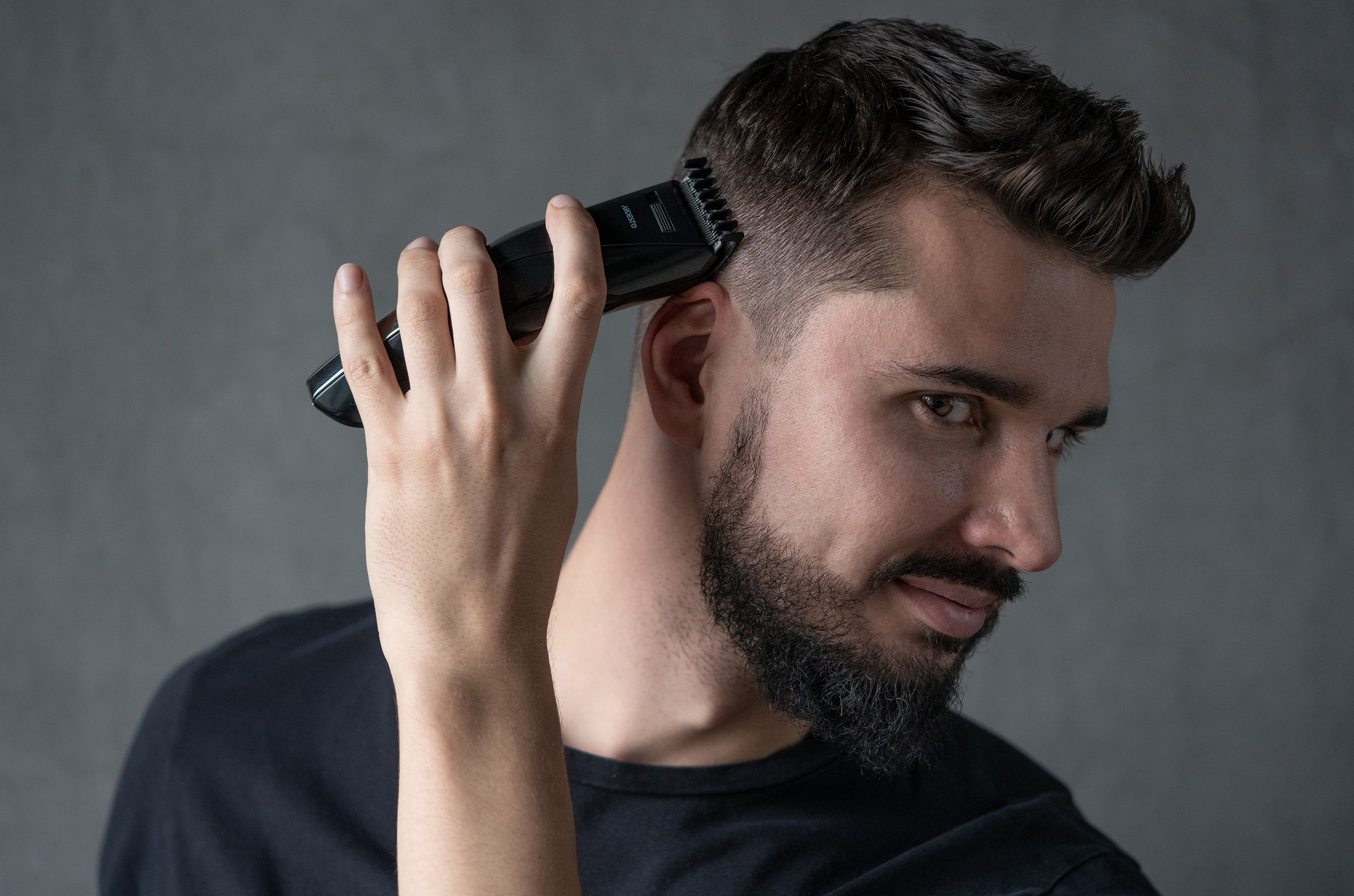 Perfect hairstyle with wireless hair clippers Ardesto