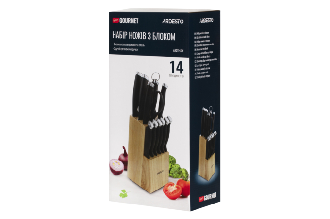 Набір ножів Ardesto Gemini Gourmet AR2114SW