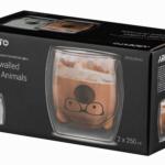 Набір чашок Ardesto Animals з подвійними стінками AR2625GAS