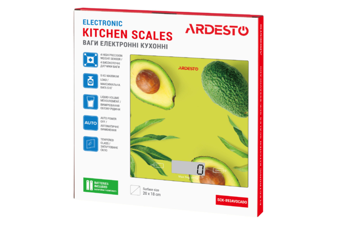 Kitchen scales Ardesto SCK-893AVOCADO