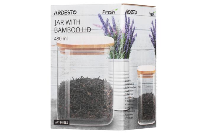 Банка для зберігання Ardesto Fresh, квадратна, 480 мл