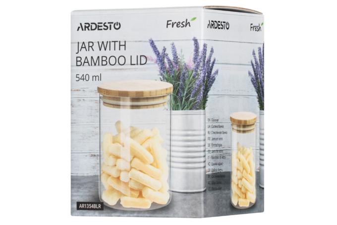Банка для зберігання Ardesto Fresh, кругла, 540 мл